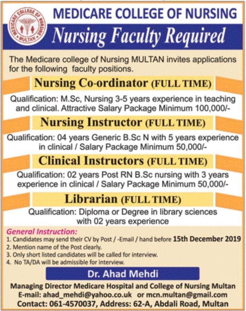 Medicare-College-of-Nursing-Multan-Jobs-2019