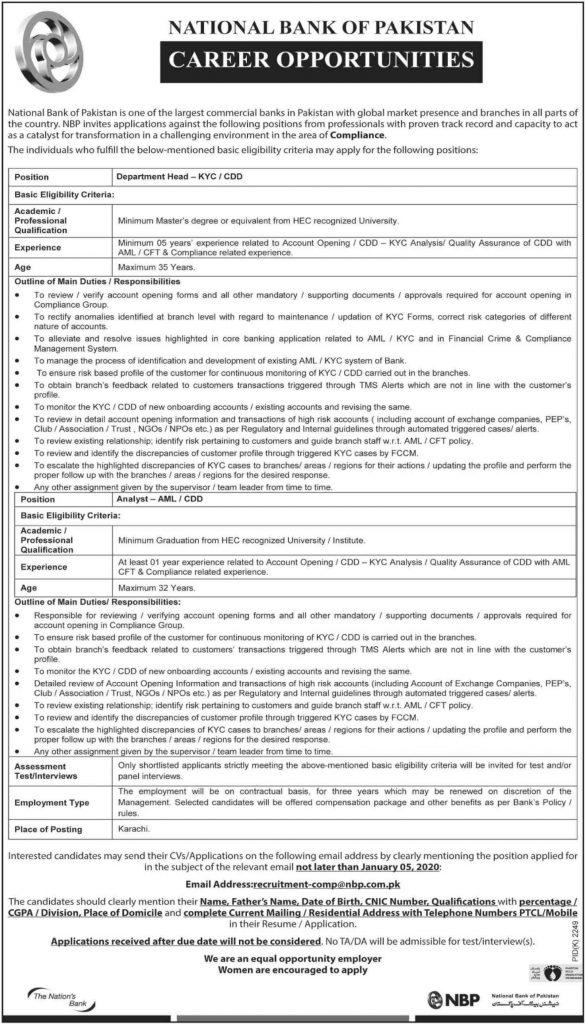 National-Bank-of-Pakistan-NBP-Jobs-2019-december-latest