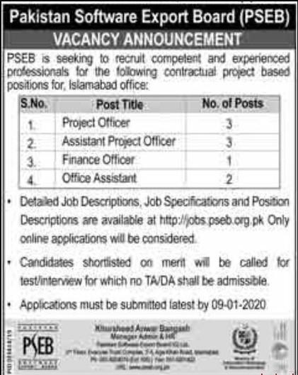 Pakistan-Software-Export-Board-PSEC-Jobs-2019