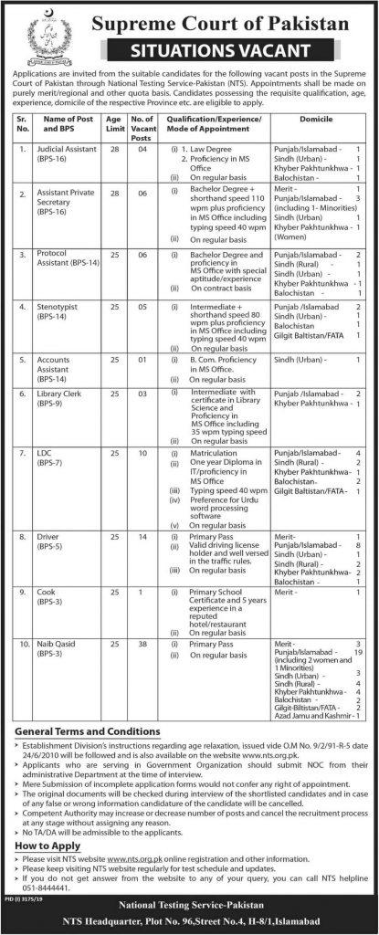 Supreme-Court-of-Pakistan-Jobs-2019-NTS-Jobs