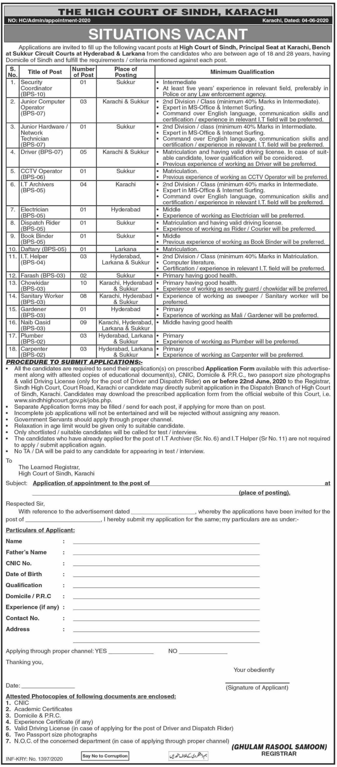high-court-of-sindh-karachi-jobs