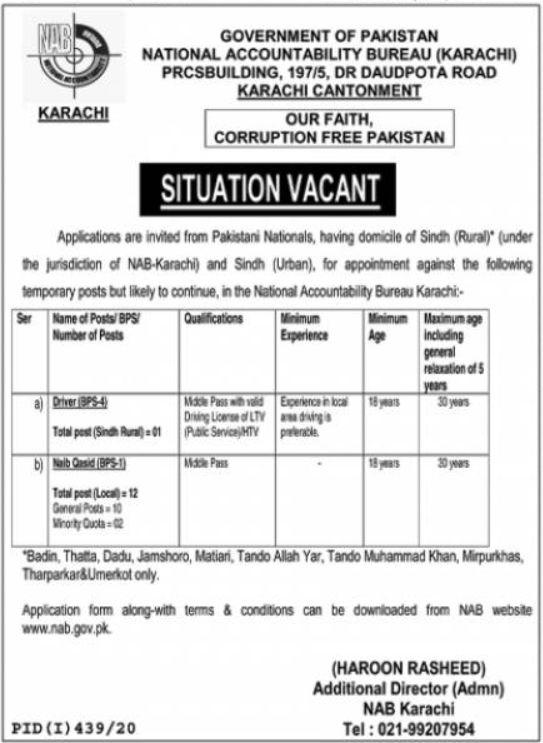 National-Accountability-Bureau-NAB-Government-of-Pakistan-Jobs-2020