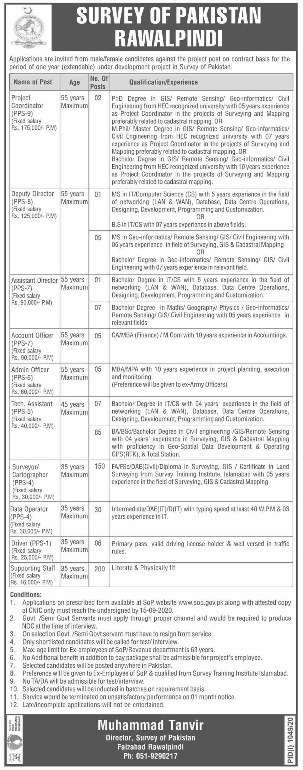 survey-of-pakistan-SOP-rawalpindi-jobs-2020