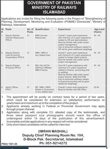 govt-of-pakistan-ministry-of-railway-jobs-2020