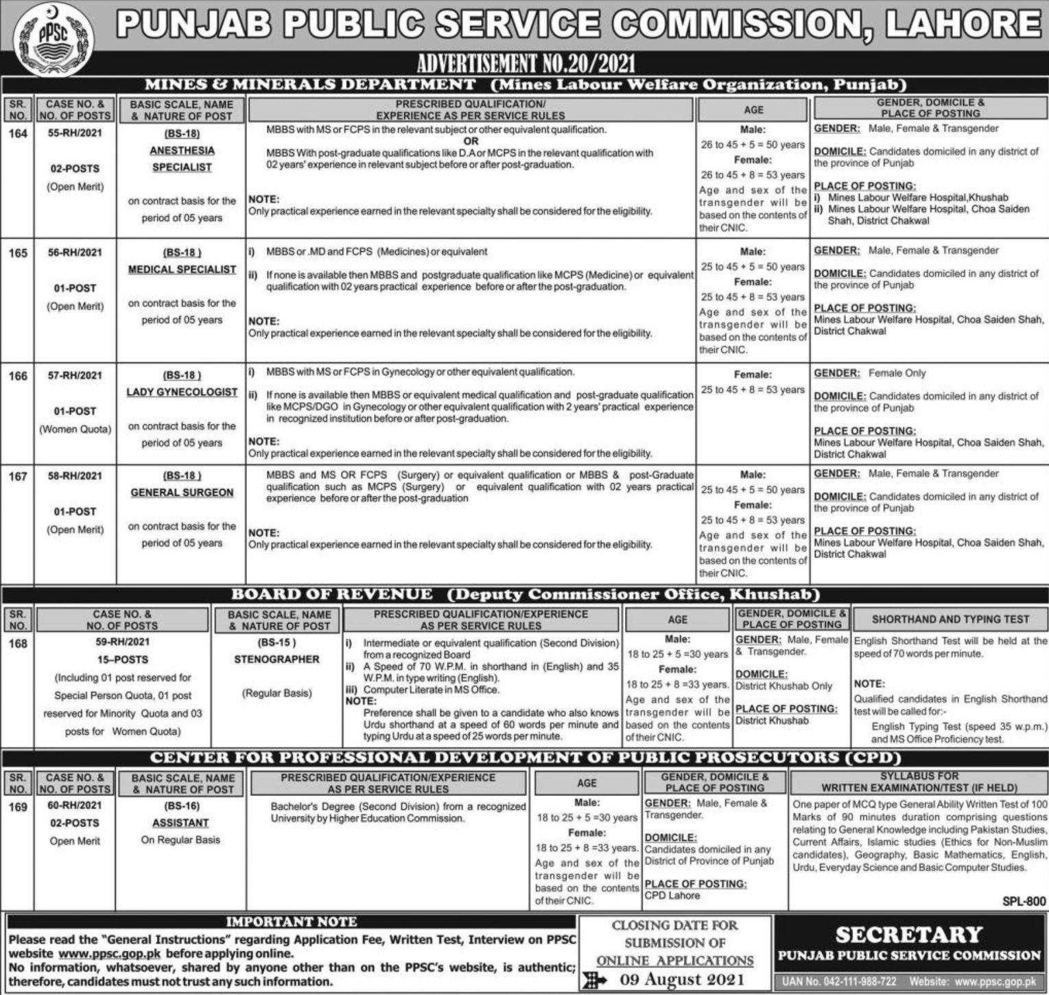 Punjab-Public-Service-Commission-PPSC-Jobs-2021